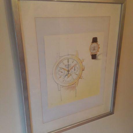 (202) (CK14202) Framed Watch Picture.40cm x 50cm.20.00 euros.