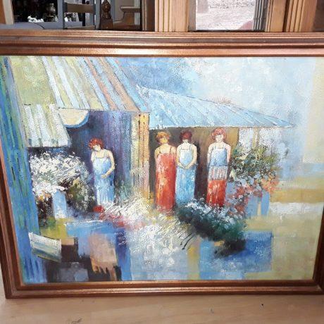(35) (CK140235) Framed Oil Painting.135cm x 108cm.65.00 euros.
