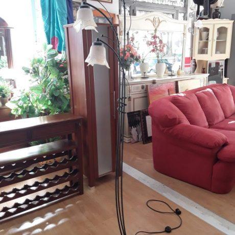 (5) (CK09005) Free Standing Metal Framed Lamp.190cm High.35.00 euros.