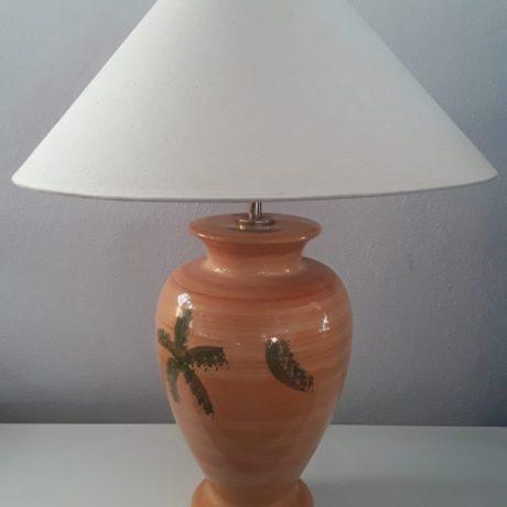 (54) (CK09054) Glazed Large Ceramic Table Lamp.64cm High.25.00 euros.